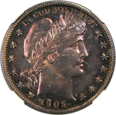 Image of 1905 50c NGC/CAC Proof 65