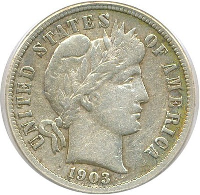 Image of 1903-S 10c PCGS VF25