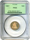 Image of 1887 10c PCGS Proof 66 OGH
