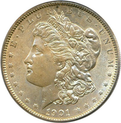 Image of 1901 $1 PCGS MS62