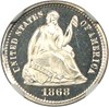 Image of 1868 H10C NGC Proof 66 Ultra Cameo