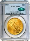 Image of 1913 $20 PCGS/CAC MS64
