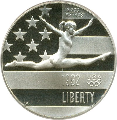 Image of 1992-S 50c PCGS Proof 70 DCameo (Olympic Gymnast)
