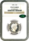 Image of 1896 25c NGC/CAC Proof 67 Cameo