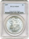 Image of 1897 $1 PCGS MS65