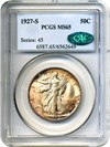Image of 1927-S 50c PCGS/CAC MS65