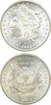 Image of 1885-CC $1 PCGS/CAC MS64 ex: GSA