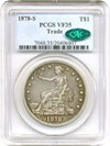 Image of 1878-S Trade$ PCGS/CAC VF35