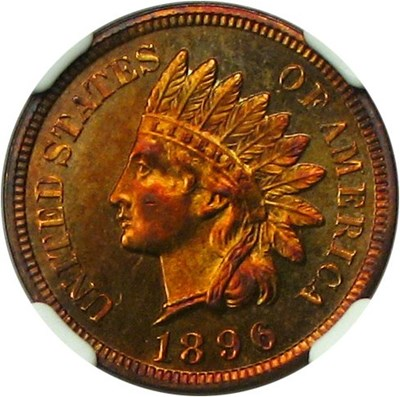 Image of 1896 1c NGC Proof 65 RB