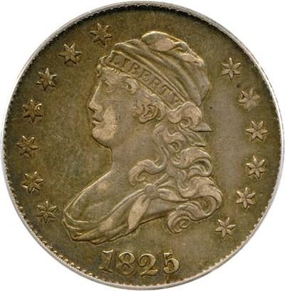 Image of 1825/4/2 25c PCGS XF45