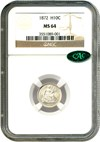 Image of 1872 H10c NGC/CAC MS64