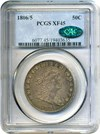 Image of 1806/5 50c PCGS/CAC XF45