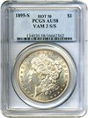 Image of Hot 50 VAM: 1895-S $1 PCGS AU58 (VAM 3, S/S)