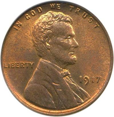 Image of 1917 1c PCGS MS63 RB
