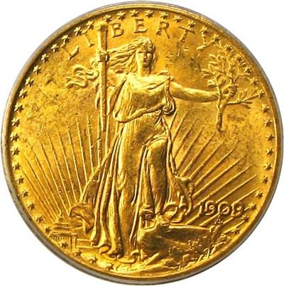 Image of 1909/8 $20 PCGS MS62