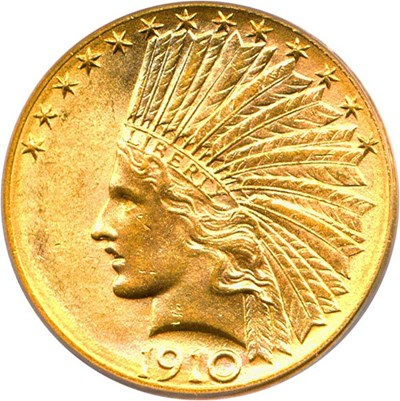 Image of 1910-D $10 PCGS MS64