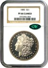 Image of 1885 $1 NGC/CAC Proof 66 Cameo