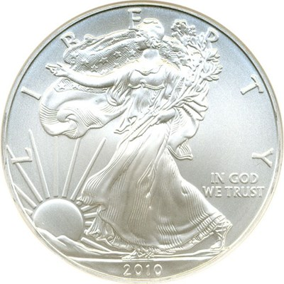 Image of 2010 $1 NGC MS70 (Silver Eagle, Early Releases)