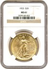 Image of 1923 $20 NGC MS61