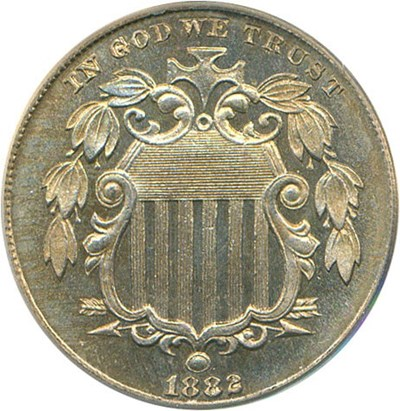 Image of 1882 5c PCGS Proof 66