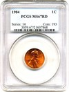 Image of 1984 1c PCGS MS67 RD