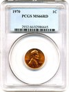 Image of 1970 1c PCGS MS66 RD