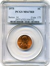 Image of 1975 1c PCGS MS67 RD