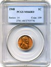 Image of 1948 1c PCGS MS66 RD