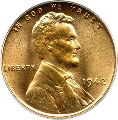 Image of 1942 1c PCGS MS67 RD