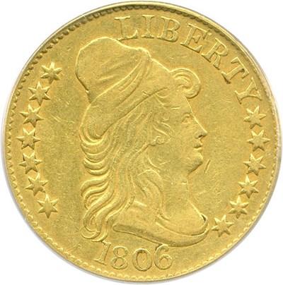 Image of 1806 $5 PCGS XF40 (Round 6, 7x6 Stars)