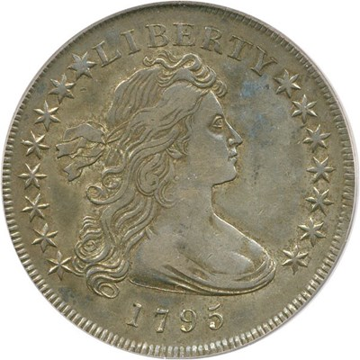 Image of 1795 $1 PCGS XF40 (Draped Bust, Off-Center Bust, B-14, BB-51)
