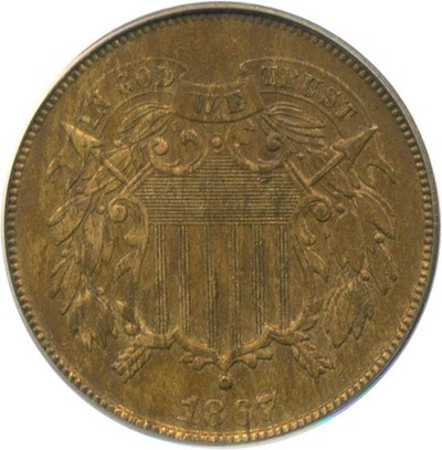 Image of 1867 2c PCGS AU58
