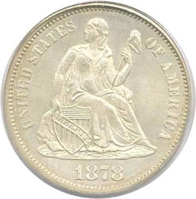 Image of 1878 10c PCGS MS64