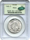Image of 1946-D 50c PCGS/CAC MS64 OGH