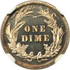 Image of 1911 10c NGC/CAC Proof 65 Cameo