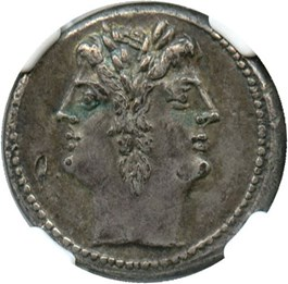Image of 225-214/2 BC Anonymous Quadrigatus NGC XF (Ancient Roman) Strike:5/5; Surface 3/5