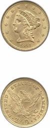 Image of 1861 $2 1/2 PCGS MS63 (New Reverse)