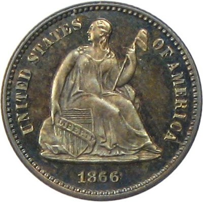 Image of 1866 H10c PCGS/CAC Proof 65