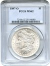 Image of 1897-O $1 PCGS MS62