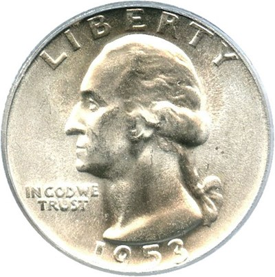 Image of 1953-S 25c PCGS MS65