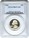 Image of 1953 25c PCGS Proof 67 Cameo