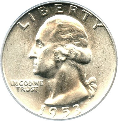 Image of 1953-D 25c PCGS MS66