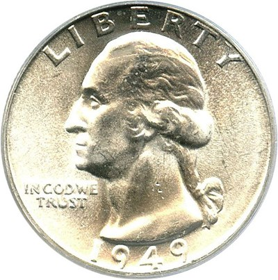 Image of 1949-D 25c PCGS MS65