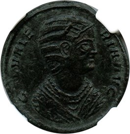 Image of AD 293-311 Gal. Valeria BI Nummus NGC Ch XF (Ancient Roman) Strike:4/5; Surface 2/5