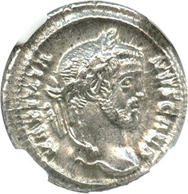 Image of AD 305-311 Galerius AR Argenteus NGC MS (Ancient Roman) Strike:4/5; Surface 5/5