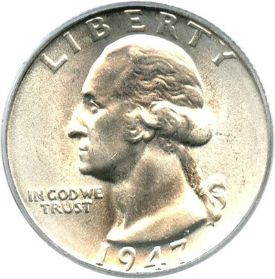 Image of 1947 25c PCGS MS66