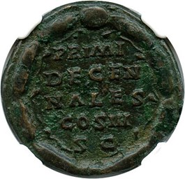 Image of AD 161-180 Mar. Aurelius AE Dupondius NGC Ch VF (Ancient Roman) Strike:4/5; Surface 2/5
