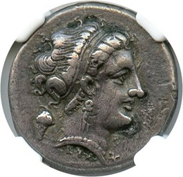 Image of 4th-3rd Centuries BC AR Didrachm NGC VF (Ancient Greek) Strike:5/5; Surface 4/5