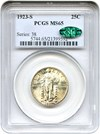 Image of 1923-S 25c PCGS/CAC MS65 - Key Date -- No Reserve!