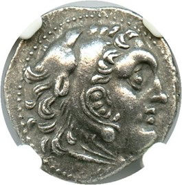 Image of 336-323 BC Alexander III AR Drachm NGC XF (Ancient Greek) Strike:5/5; Surface 3/5